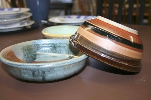 Community members, students and local celebrities crafted bowls for this year's luncheon.