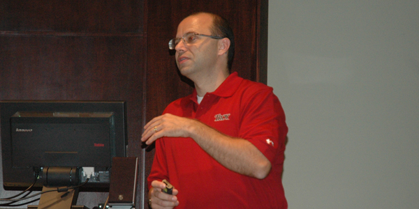 Greg Price gave a presentation on technology and bullying.