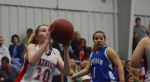 PLAS senior Megan Johnson shoots the ball against Crenshaw Christian Academy on Tuesday.