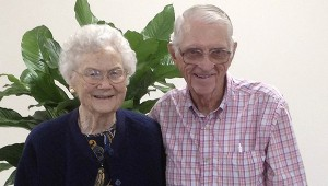 W.O. Sanders and his wife Irene have been married for 70 years and say they owe it all to walking in love every day.  MESSENGER PHOTO/JAINE TREADWELL