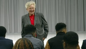 Alabama Lieutenant Governor Kay Ivey visited the Business and Finance Academy at PCHS Monday. MESSENGER PHOTO/JAINE TREADWELL