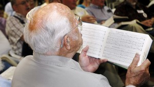 The Pioneer Museum of Alabama hosted the 6th Annual All Day Sacred Harp Sing Saturday. The singers sang from the Copper Book. Aubrey Barfield, Niceville, Fla., is a regular at the annual sing and sits and sings with the trebles in the hollow square.  MESSENGER PHOTO/JAINE TREADWELL
