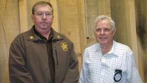 Captain Dennis Riley stood in for Pike County Sheriff Russell Thomas as program guest of Rotarian Homer Homann at the Wednesday meeting of the Brundidge Rotary Club. Thomas was unable to attend and Riley spoke about changing times in law enforcement.