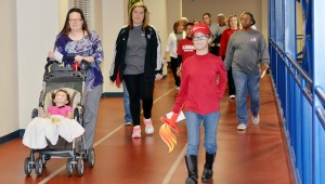 Walkers filled Troy Parks and Rec for the Heart Walk.