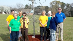 Members of Pilot International planted two Oak Trees to honor two members who have recently passed away. Members of Pilot International and Troy Parks and Recreation Director Dan Smith (far right) stand next to one of the trees at the Troy Sportsplex.