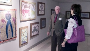 """submitted photo Dr. Doug Hawkins of Troy gave a gallery talk at the opening of """"As MoseT Would See It: Expressions Through the Life of Moses Tolliver."""""""