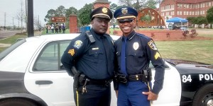 Submitted Photo Troy Police Officer Sanford Wingard had the opportunity to travel to Montgomery Wednesday and assist with the final leg of the 50th recreation of the Selma to Montgomery march.
