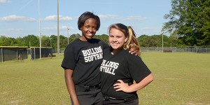 Keri Taylor, right, and Sh'ana Lee, left, are Pike County's only seniors for the 2015 season. MESSENGER PHOTO/SCOTTIE BROWN