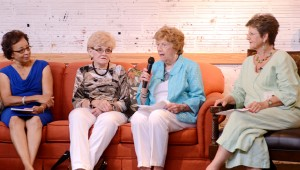Messenger photo/Courtney Patterson From left, Kathleen Forbish, Jane Segars, Mary Lou Anderson and Kaye Jinright served as a panel to provide advice and wisdom at the May meeting of Female Factor Wednesday at The Studio in Downtown Troy. The women answered questions that were predecided, as well as questions from the audience about parenting, life and anything else.