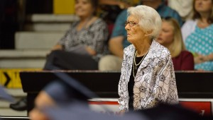 Betty Wagoner, pictured at the 2015 CHHS graduation ceremony, shepherded decades of senior classes through graduation and life during her tenure as a teacher and senior class sponsor at the high school. She passed away on Friday.