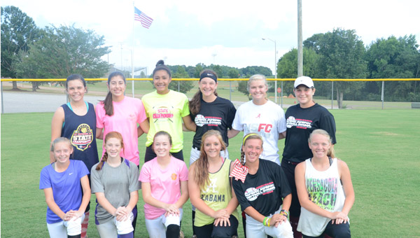 The Troy Belles are relying on experience and talent to help them make a run through the Sub-District and District Tournaments. Back row, left to right- Lydia Harrison, Molly Kate Sanders, Kelsey Gibson, Sidney Armstrong, Rose Snyder and Danielle Brown. Front row- Hannah Calhoun, Kate Warrick, Graci Williams, Brooke Bennett, Maggie Phelps, and Sydni Garrett. MESSENGER PHOTO/COURTNEY PATTERSON