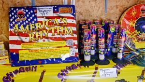 MESSENGER PHOTO/COURTNEY PATTERSON Tiki's Fireworks is also preparing for the big holiday weekend by fully stocking their products.
