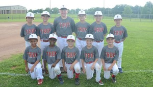 The AA pitching machine team is ready for tournament play. Pictured on the back row from left to right are Wes Braisted, Jackson Boothe, Cade Edwards, Rhodes Baker, Kade Brookins and Pruitt Vaughn. Front row kneeling left to right are KaNeil Lewis, Jordan McBryde, Cason Boothe, Cole Pugh and Dawson Bradford. Not pictured Carter Nelson.