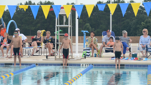 After the first two swim meets of the season were out of town, the Troy Tiger Sharks swim team hosted their lone swim meet Thursday at the Sportsplex. The Tiger Sharks were joined in the pool by a team from Andalusia. The Sportsplex will host the District Swim Meet on July 11.  MESSENGER PHOTO/MIKE HENSLEY