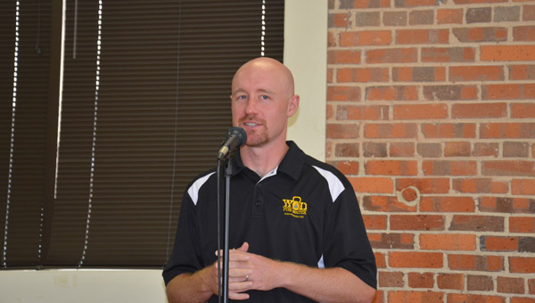 Photo/mike hensley Former Charles Henderson High School baseball head coach Derek Irons said goodbye Tueseday afternoon at Troy First Baptist Church. Irons accepted the head coaching job at Oak Mountain High School in Shleby County on June 10.