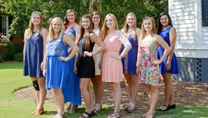 """MESSENGER PHOTO/SCOTTIE BROWN The Distinguished Young Women scholarship competition will be Saturday at 2 p.m. at Claudia Crosby Theater at Troy University. Pictured are the """"little sisters: of the participants. Front row, from left, are Marah-Katelin Davis, Mia Smith, Madison Brown and Amelia Steele. Back frow, from left, are Laura Lynn Davis, Addyson Bryan, Lindsey Fox, Chloe Dorrill and Havyn Dates."""