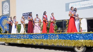 MESSENGER PHOTO/COURTNEY PATTERSON Charles Henderson High School marched in the annual CHHS Homecoming Parade Friday afternoon in Downtown Troy. Pictured is the 2015 CHHS Homecoming Court.
