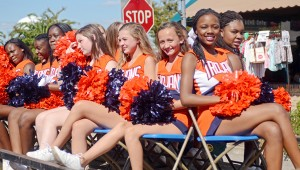 MESSENGER PHOTO/COURTNEY PATTERSON Charles Henderson High School marched in the annual CHHS Homecoming Parade Friday afternoon in Downtown Troy.