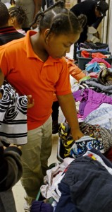 MESSENGER PHOTO/COURTNEY PATTERSON The Christian Love Community Center held its third annual Day of Giving Wednesday. The community was invited to accept clothing free of charge.