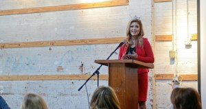 """MESSENGER PHOTO/COURTNEY PATTERSON McGuffin presents her platform """"Healthy is the New Skinny"""" to Female Factor."""