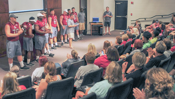 More than 100 women from the Pike County community participated in Troy University's Football 101 event this week. The women's clinic gives participants a chance to  view the game of football in a different way.