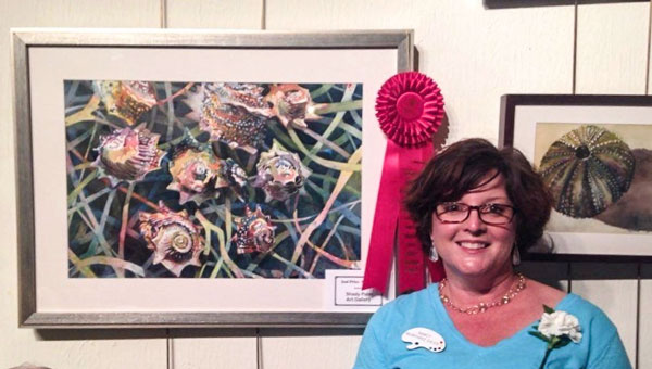 Troy native Nancy Murphree Davis will visit with members of the public this week as the Johnson Center for the Arts debuts her nature-inspired show. The reception is Thursday evening at the center and is free to the public.