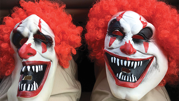 Police have identified the two juveniles that posed a menacing clowns over the weekend. Their masks were taken and their Facebook page was removed, but no charges have been filed at this time.