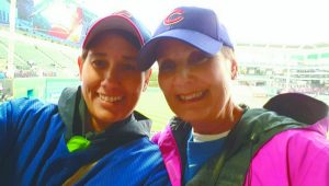 submitted Photo Local Cubs fan Natalie Sutter and her mother Nancy Paulie have been life long Cubs fans. On Wednesday night their dreams of attending a World Series game came true.
