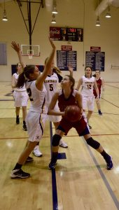 submitted Photo/debi green Lauren Johnson and the Pike Lady Patriots defeated the Autauga Generals 49-43 at the Lee-Scott Classic on Monday afternoon.