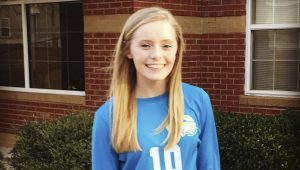 submitted Photo Goshen sophomre volleyball player Hannah Calhoun finished the 2016 season with 602 digs, 61 aces and 35 kills. She was named to the Dothan Eagles Super 12 team this weekend.