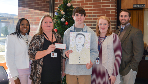 Caden Bryan, CHHS, won first place in the 2016 Bully Awareness Poster Contest.