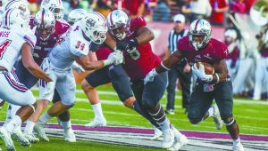 Photo/jonah enfinger  The Trojans have their eyes set on a share of the Sun Belt Conference title. To accomplish that they will have to defeat the Georgia Southern Eagles in Statesboro.