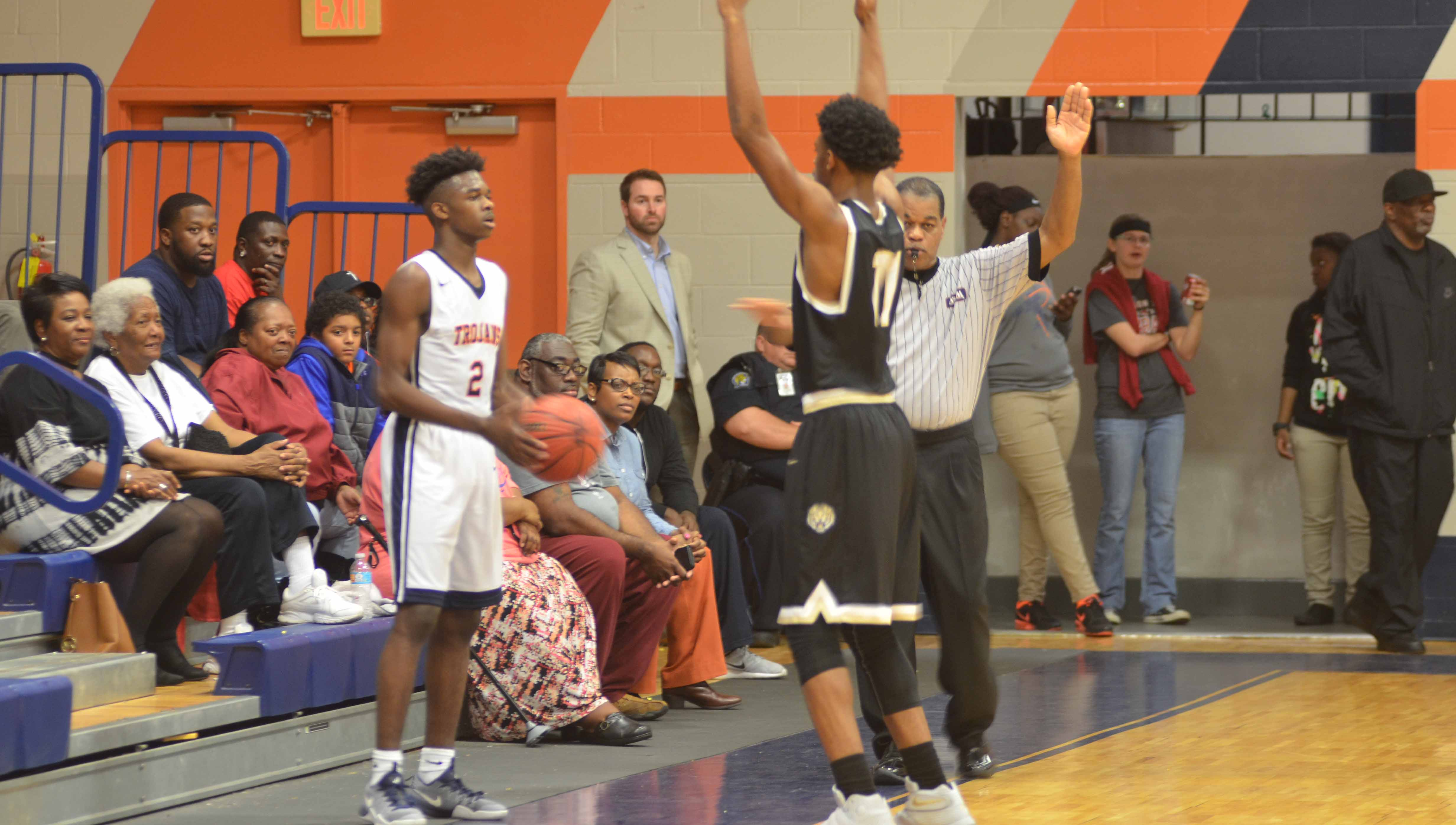 Messenger Photo/mike Hensley The Charles Henderson Trojans fell to the Greenville Tigers 69-62 in area action on Tuesday night