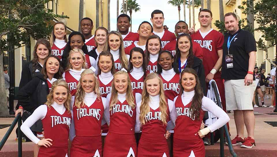 submitted Photo Under new head coach Richard Watkins, the Troy University Cheerleading team went down to Orlando and finished in fourth place in the 2017 UCA College Nationals.