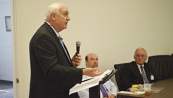 Jim Perdue, commissioner of the Alabama Department of Mental Health, spoke to the Health and Human Services committee of the Pike County Chamber of Commerce on Wednesday about how cutting federal regulations could help the department.
